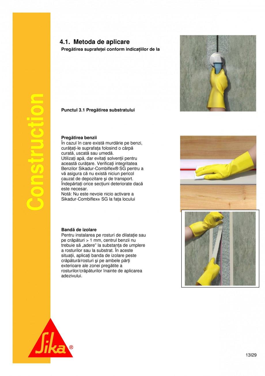 Pagina 13 - Sistem de etansare a rosturilor si reparare a fisurilor - Sikadur-Combiflex SG SIKA...