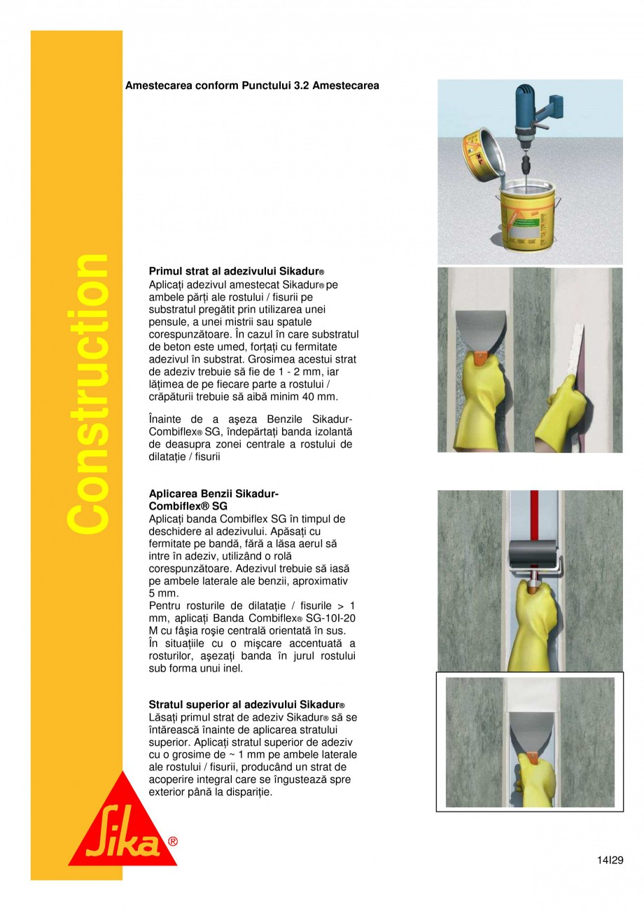 Pagina 14 - Sistem de etansare a rosturilor si reparare a fisurilor - Sikadur-Combiflex SG SIKA...