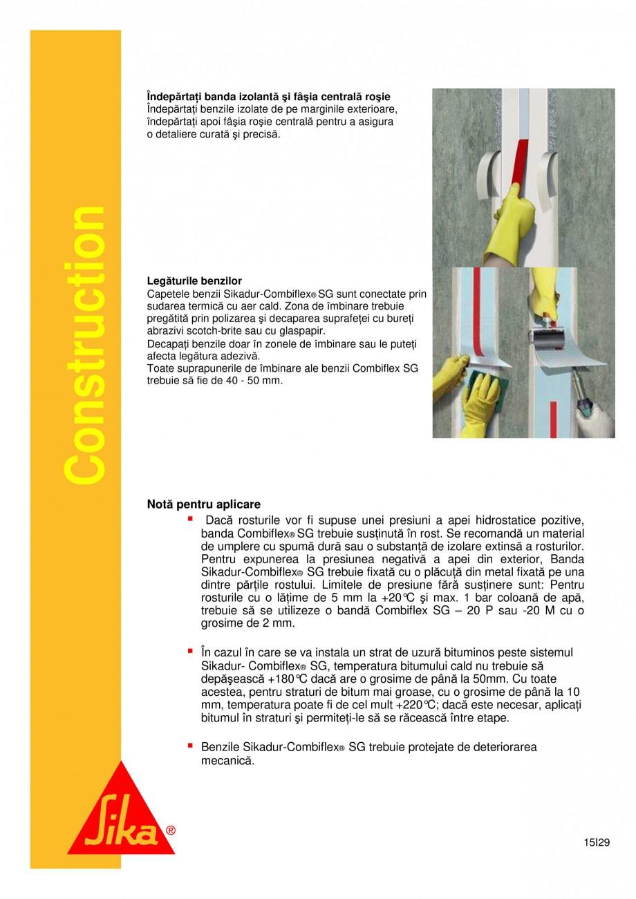 Pagina 15 - Sistem de etansare a rosturilor si reparare a fisurilor - Sikadur-Combiflex SG SIKA...