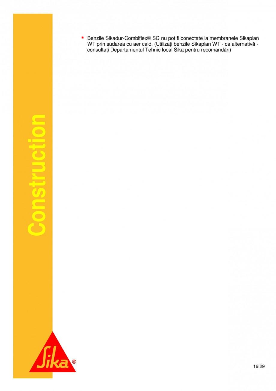 Pagina 16 - Sistem de etansare a rosturilor si reparare a fisurilor - Sikadur-Combiflex SG SIKA...