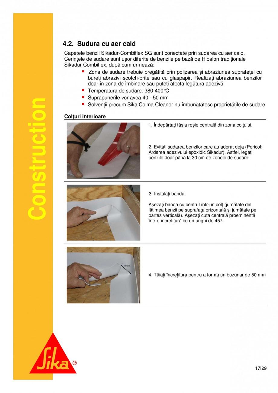 Pagina 17 - Sistem de etansare a rosturilor si reparare a fisurilor - Sikadur-Combiflex SG SIKA...