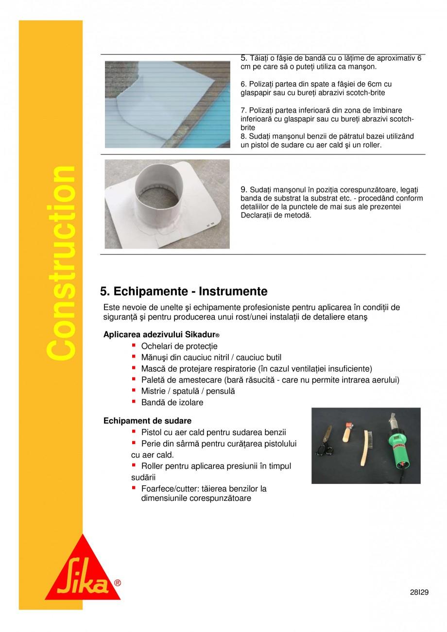 Pagina 28 - Sistem de etansare a rosturilor si reparare a fisurilor - Sikadur-Combiflex SG SIKA...