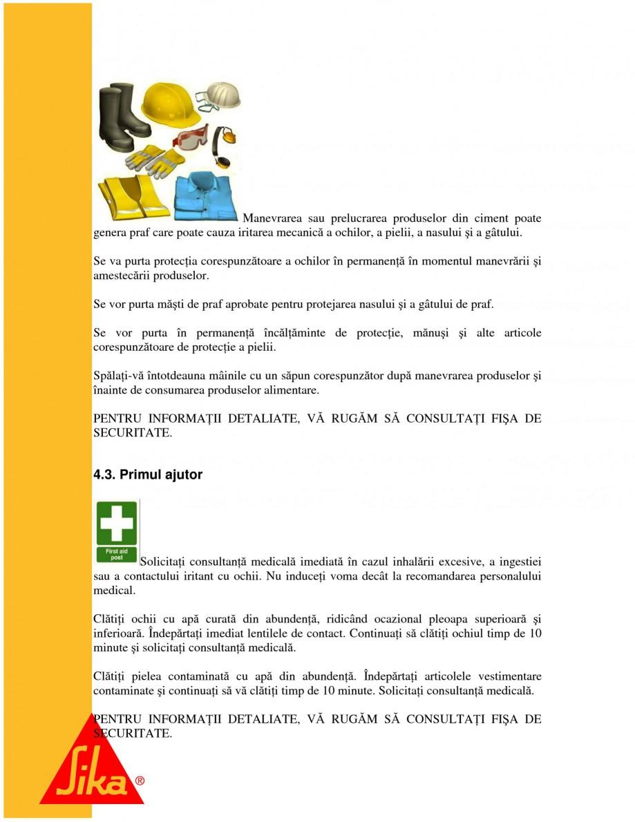 Pagina 6 - Sisteme pentru repararea betoanelor folosind mortare gata preparate SIKA Instructiuni...