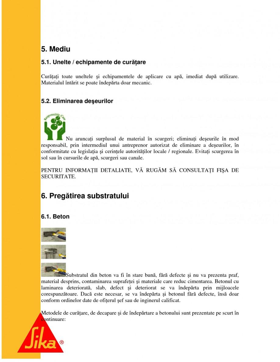 Pagina 7 - Sisteme pentru repararea betoanelor folosind mortare gata preparate SIKA Instructiuni...