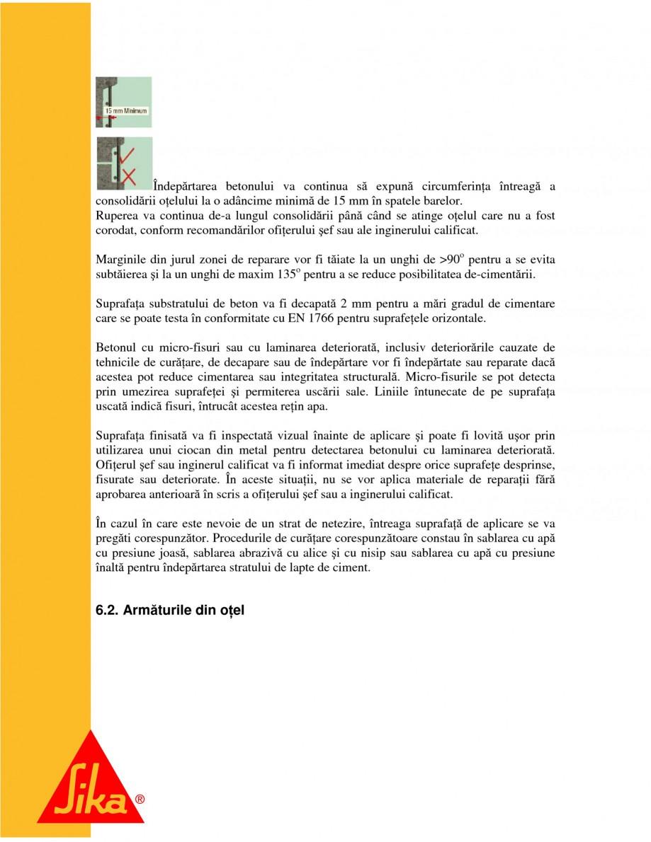 Pagina 9 - Sisteme pentru repararea betoanelor folosind mortare gata preparate SIKA Instructiuni...