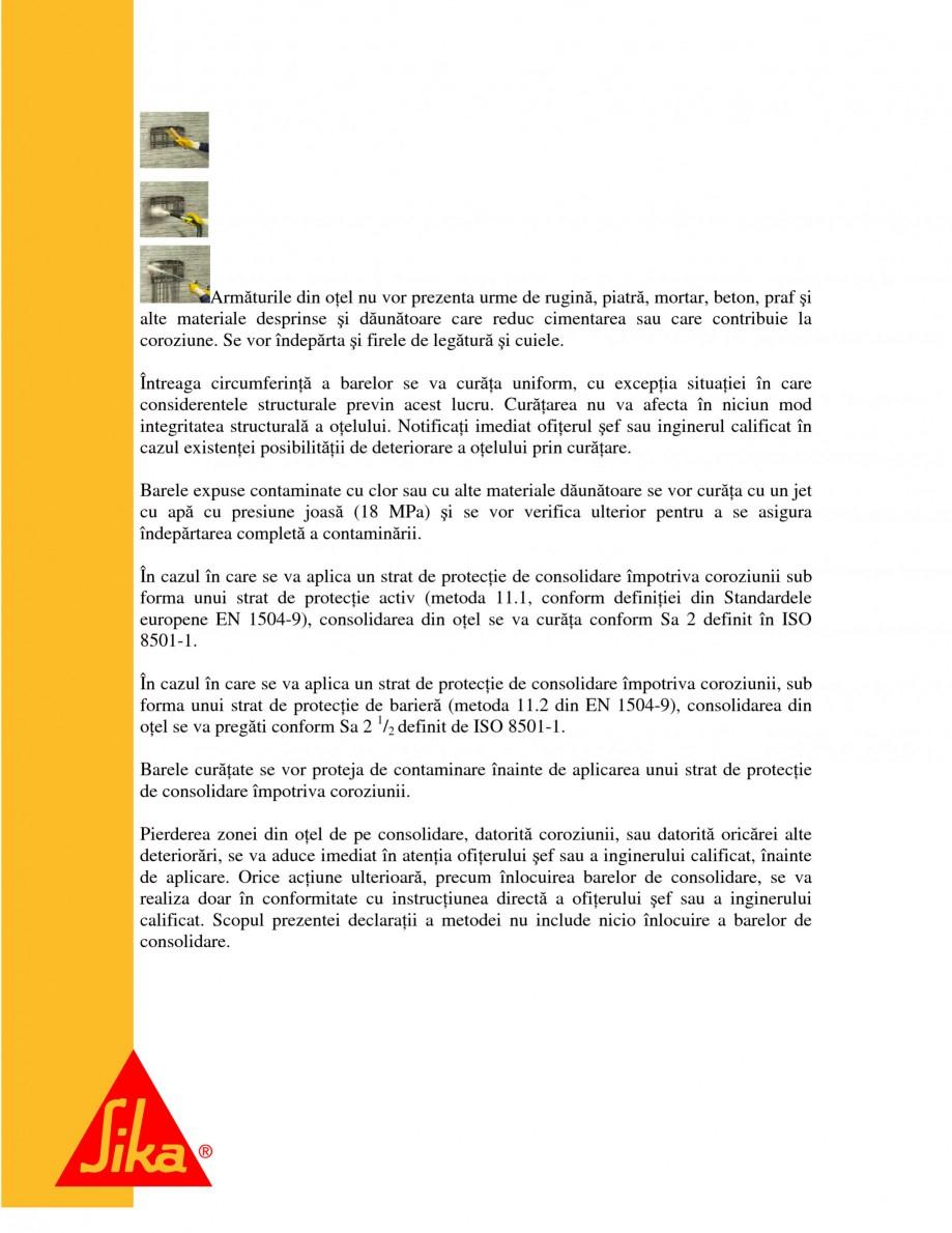 Pagina 10 - Sisteme pentru repararea betoanelor folosind mortare gata preparate SIKA Instructiuni...
