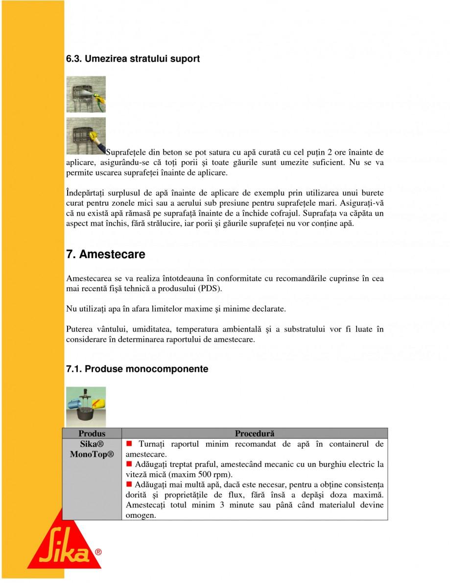 Pagina 11 - Sisteme pentru repararea betoanelor folosind mortare gata preparate SIKA Instructiuni...