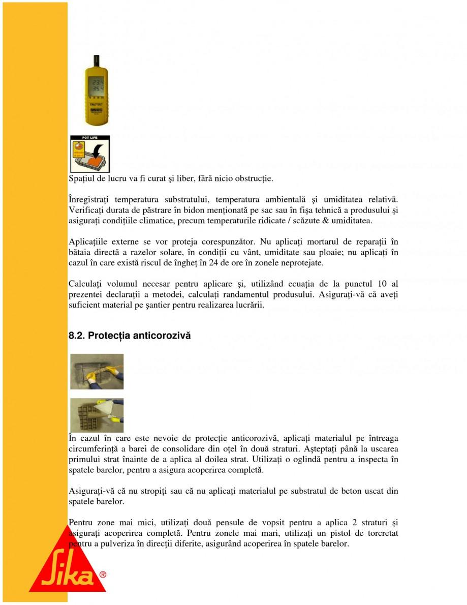 Pagina 13 - Sisteme pentru repararea betoanelor folosind mortare gata preparate SIKA Instructiuni...