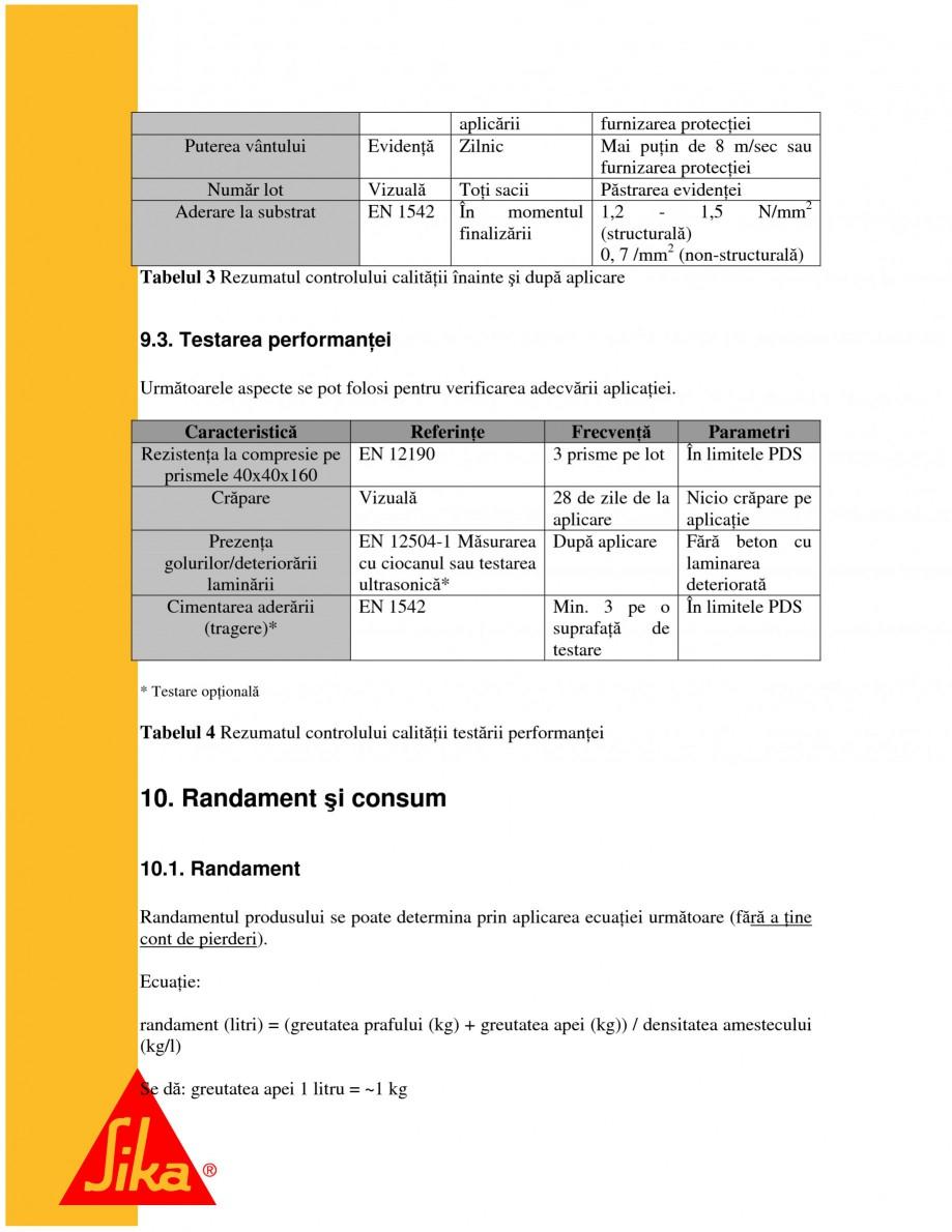 Pagina 19 - Sisteme pentru repararea betoanelor folosind mortare gata preparate SIKA Instructiuni...