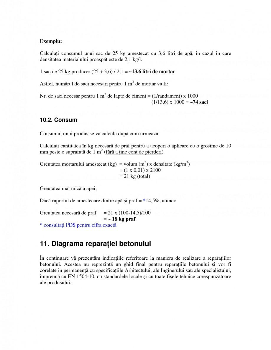 Pagina 20 - Sisteme pentru repararea betoanelor folosind mortare gata preparate SIKA Instructiuni...