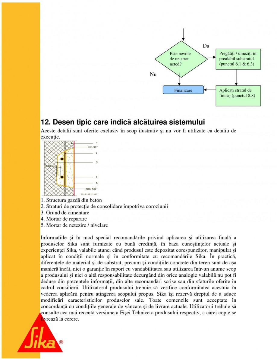 Pagina 22 - Sisteme pentru repararea betoanelor folosind mortare gata preparate SIKA Instructiuni...
