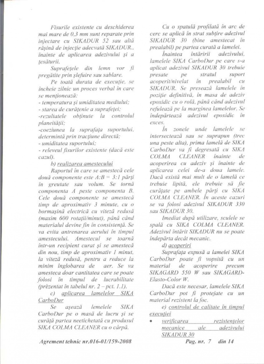 Pagina 8 - Agrement tehnic SIKA Sika® CarboDur® Certificare produs Romana