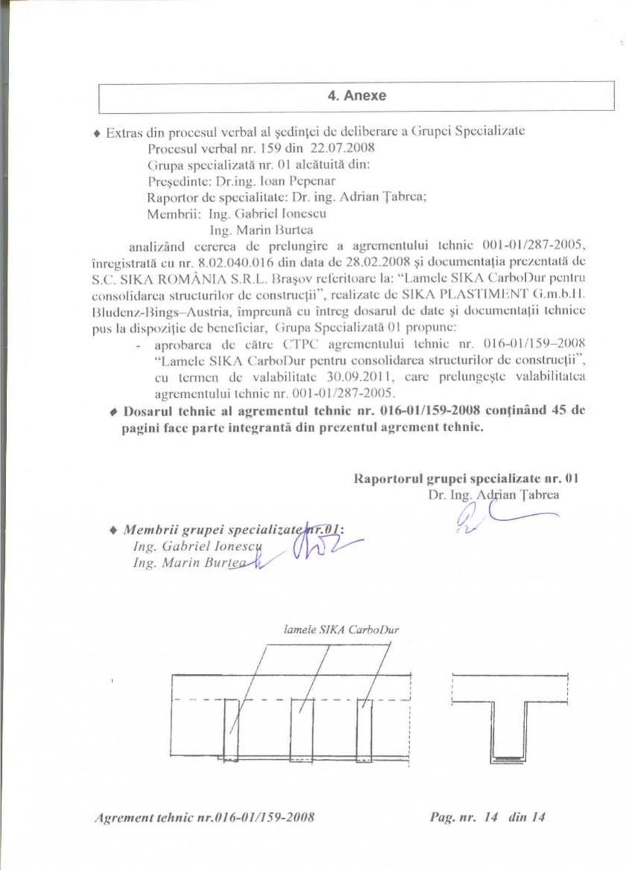 Pagina 15 - Agrement tehnic SIKA Sika® CarboDur® Certificare produs Romana