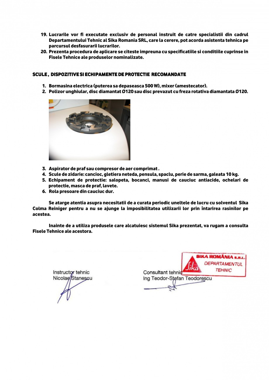 Pagina 3 - Procedura de aplicare a lamelelor pe zidarie de piatra SIKA Sika® CarboDur®...