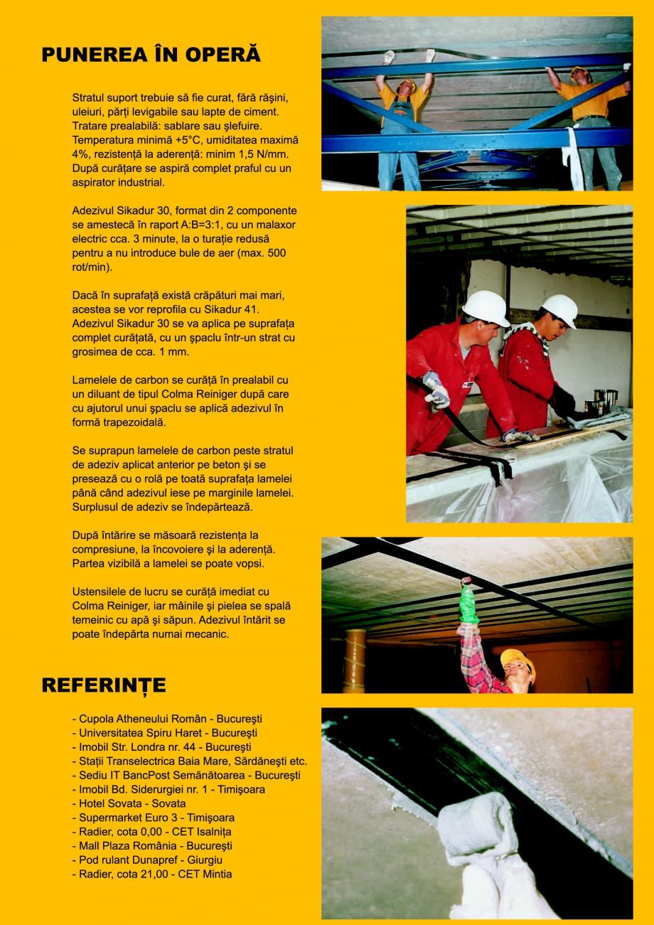 Pagina 3 - Sisteme pentru consolidarea structurilor cu lamele si tesaturi din fibra de carbon SIKA...