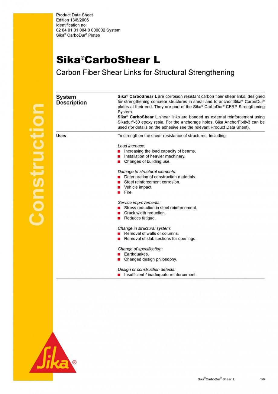 Pagina 1 - Elemente prefabricate din fibra de carbon in forma de ' L' pentru sisteme de...