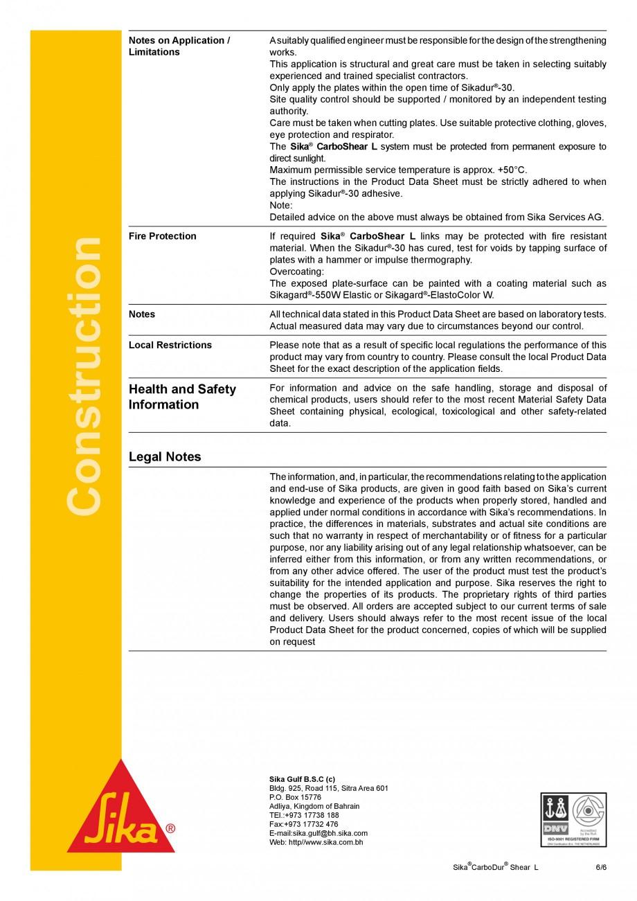Pagina 6 - Elemente prefabricate din fibra de carbon in forma de ' L' pentru sisteme de...