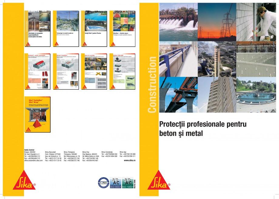 Pagina 1 - Protectii profesionale pentru beton si metal SIKA Catalog, brosura Romana Construction...
