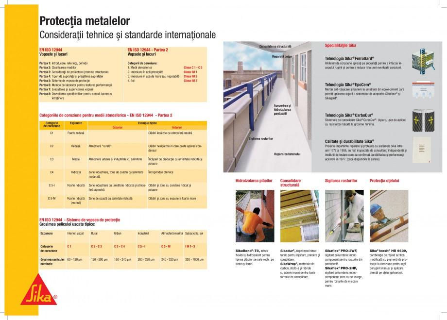 Pagina 2 - Protectii profesionale pentru beton si metal SIKA Catalog, brosura Romana ii ºi pentru a...