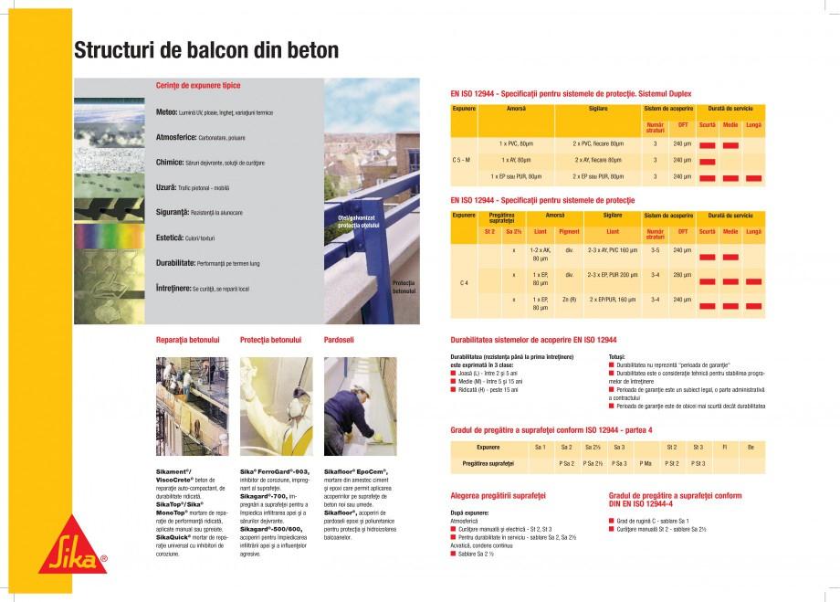 Pagina 3 - Protectii profesionale pentru beton si metal SIKA Catalog, brosura Romana þi ºi...