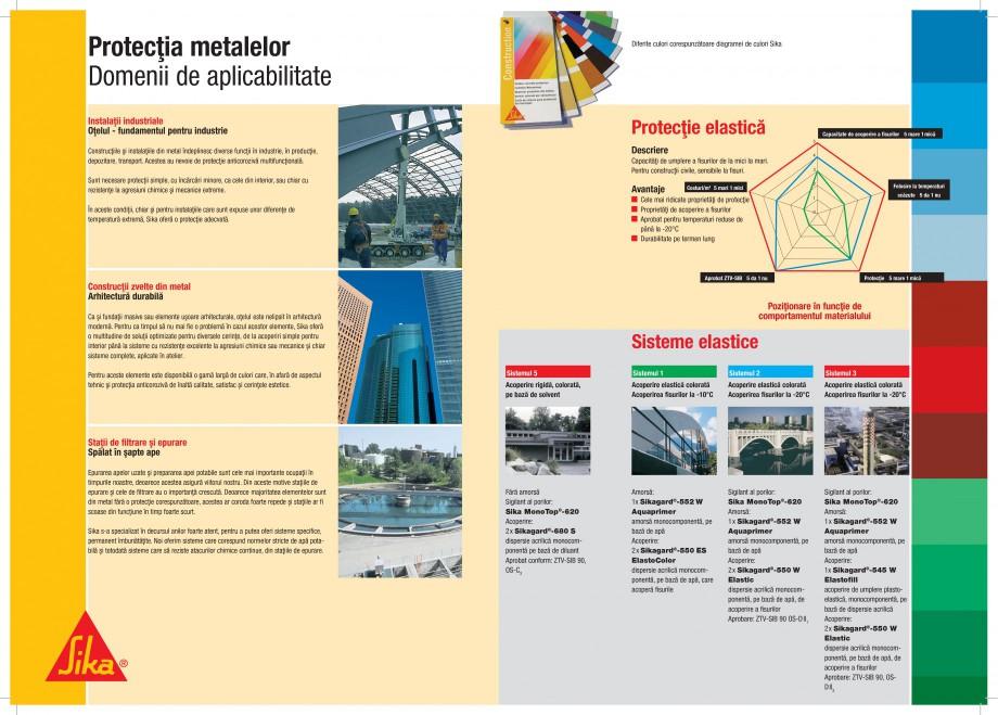 Pagina 4 - Protectii profesionale pentru beton si metal SIKA Catalog, brosura Romana ectare,...