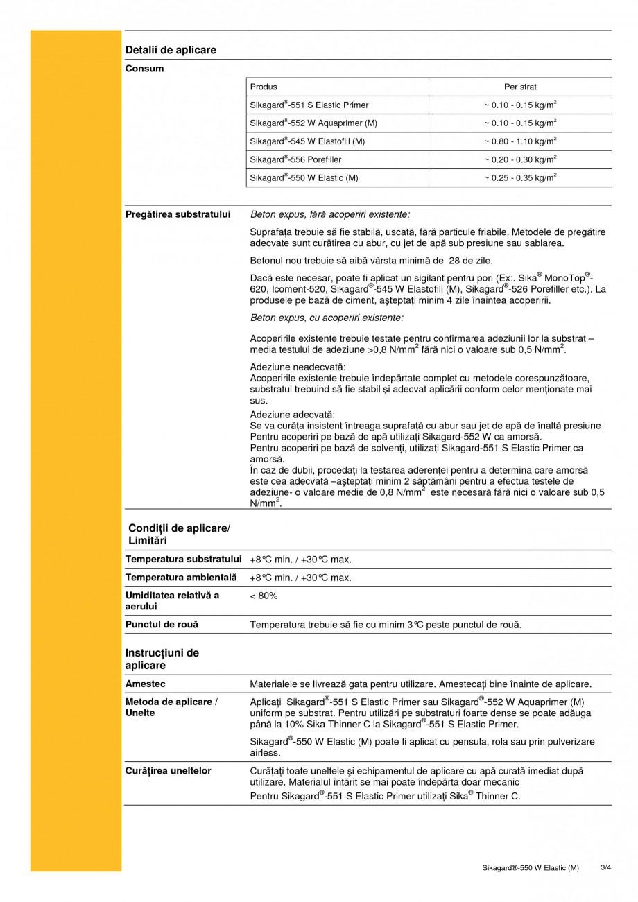 Pagina 3 - Acoperire de protectie pentru beton cu proprietati de acoperire a fisurilor SIKA...