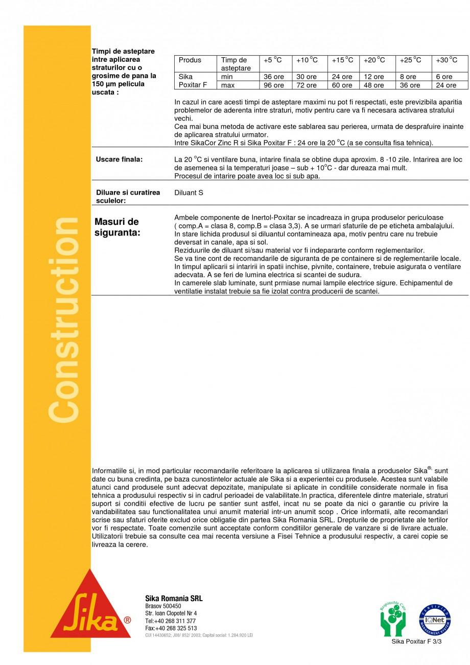 Pagina 3 - Compus pe baza de epoxi-gudron SIKA Sika® Poxitar F Fisa tehnica Romana  ...