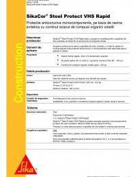 Protectie anticoroziva monocomponenta, pe baza de rasina