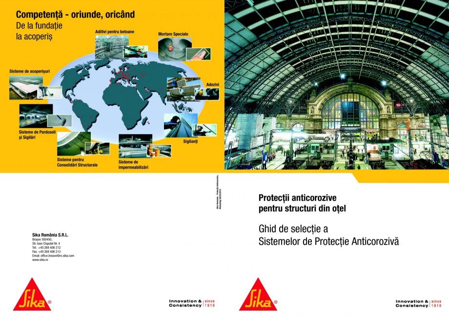 Pagina 1 - Ghid de selectie a Sistemelor de protectie anticoroziva pentru beton si metal SIKA...