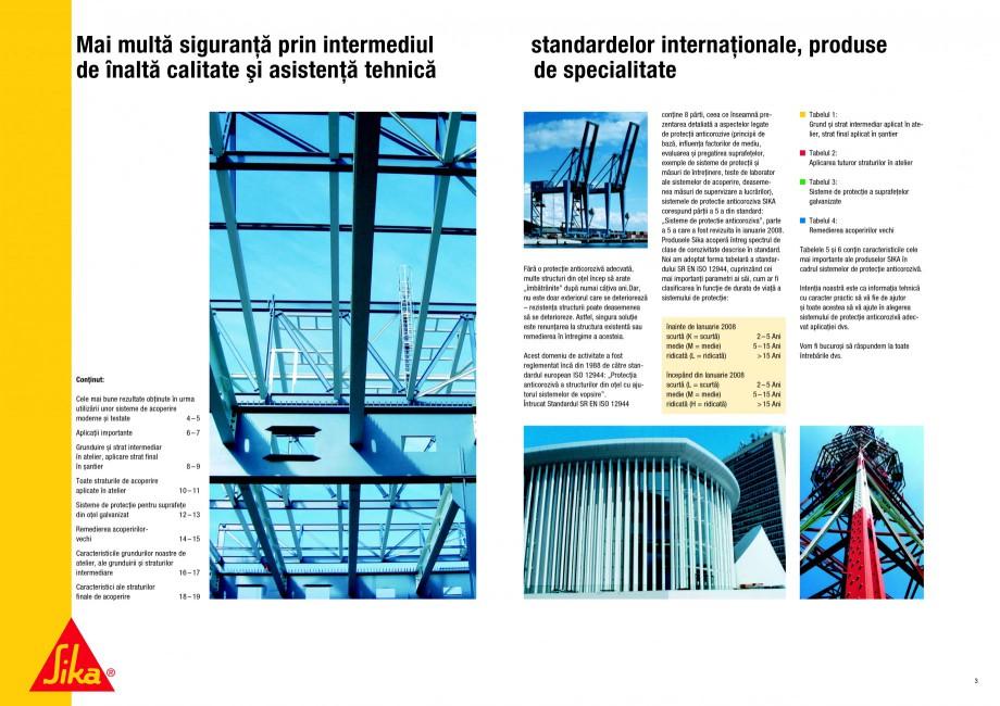 Pagina 2 - Ghid de selectie a Sistemelor de protectie anticoroziva pentru beton si metal SIKA...
