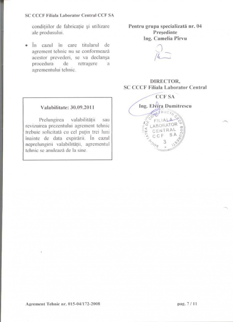 Pagina 9 - Agrement tehnic SIKA Sikagard®-550 W Elastic (M), Sikagard®-552 W-Aquaprimer...