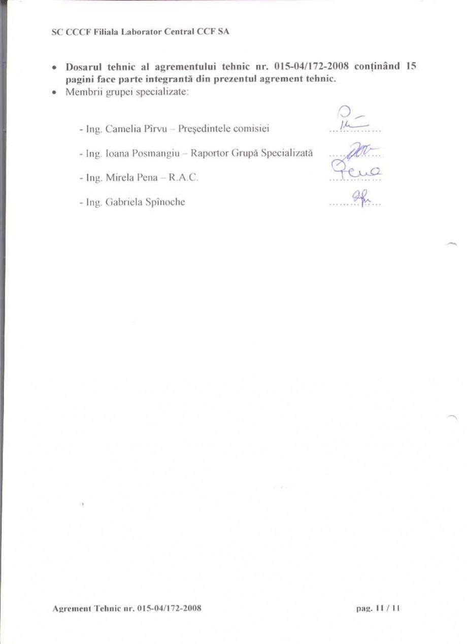 Pagina 13 - Agrement tehnic SIKA Sikagard®-550 W Elastic (M), Sikagard®-552 W-Aquaprimer...