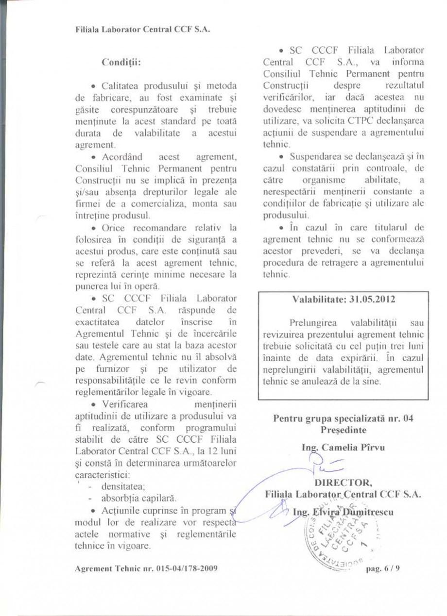 Pagina 8 - Agrement tehnic SIKA Sikagard®-680 S Certificare produs Romana