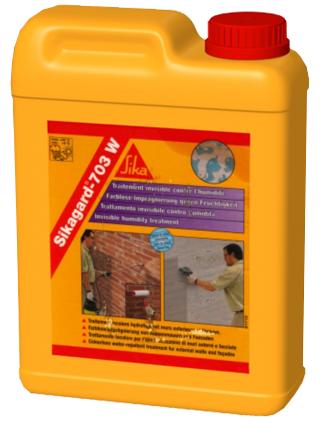 Sikagard®-703 W - Material de impregnare hidrofobizant utilizat pentru fatadele cladirilor Protectii anticorozive pentru beton si