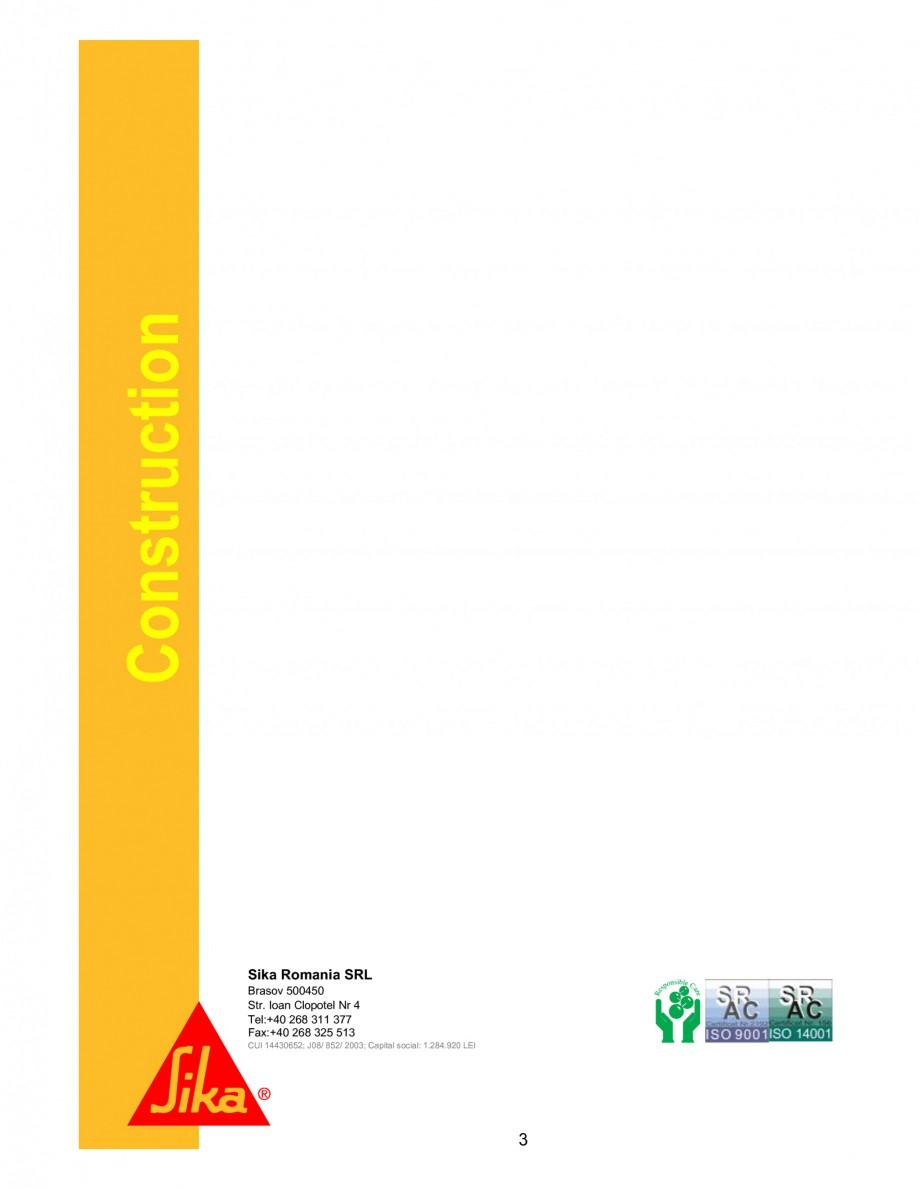 Pagina 3 - Intarzietor de priza pe baza de fosfat SIKA Sika® VZ-1 Fisa tehnica Romana duce...