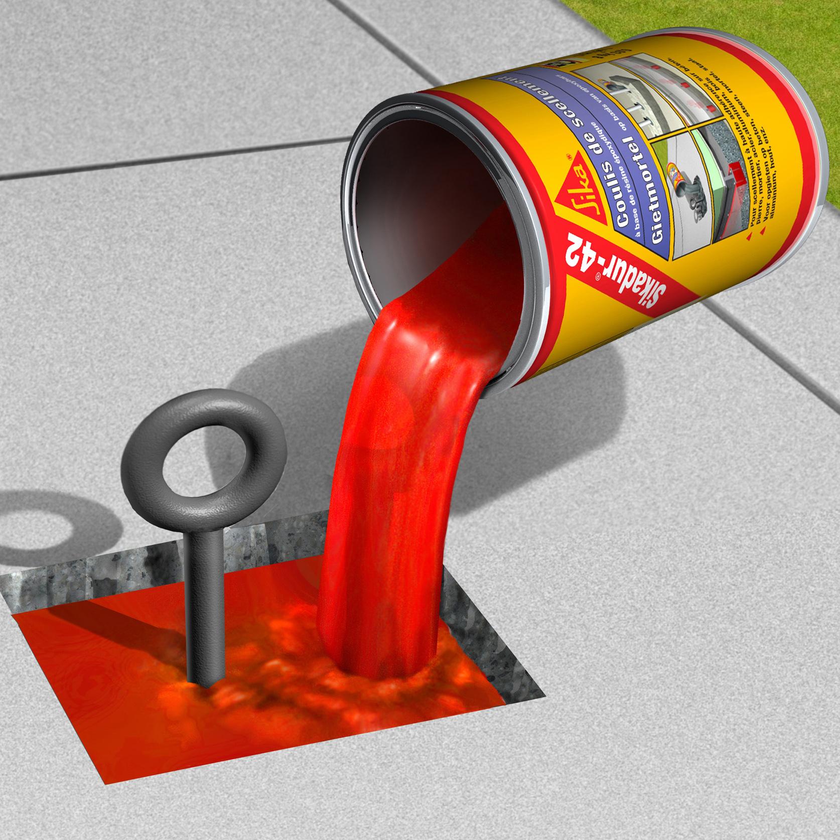 Mortar sinteticl pentru subturnari si fixari SIKA - Poza 4