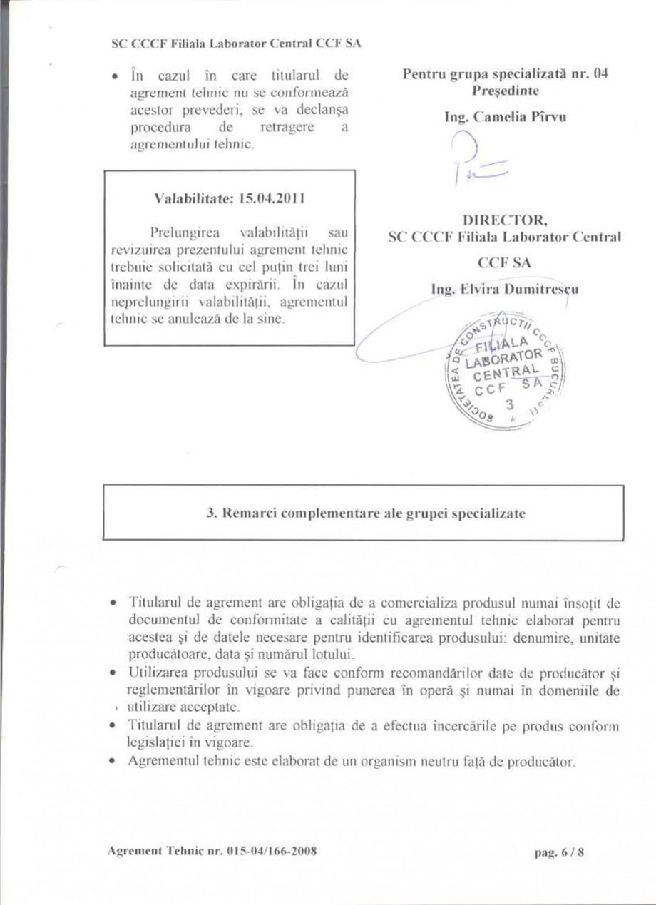 Pagina 9 - Agrement tehnic SIKA Certificare produs Romana