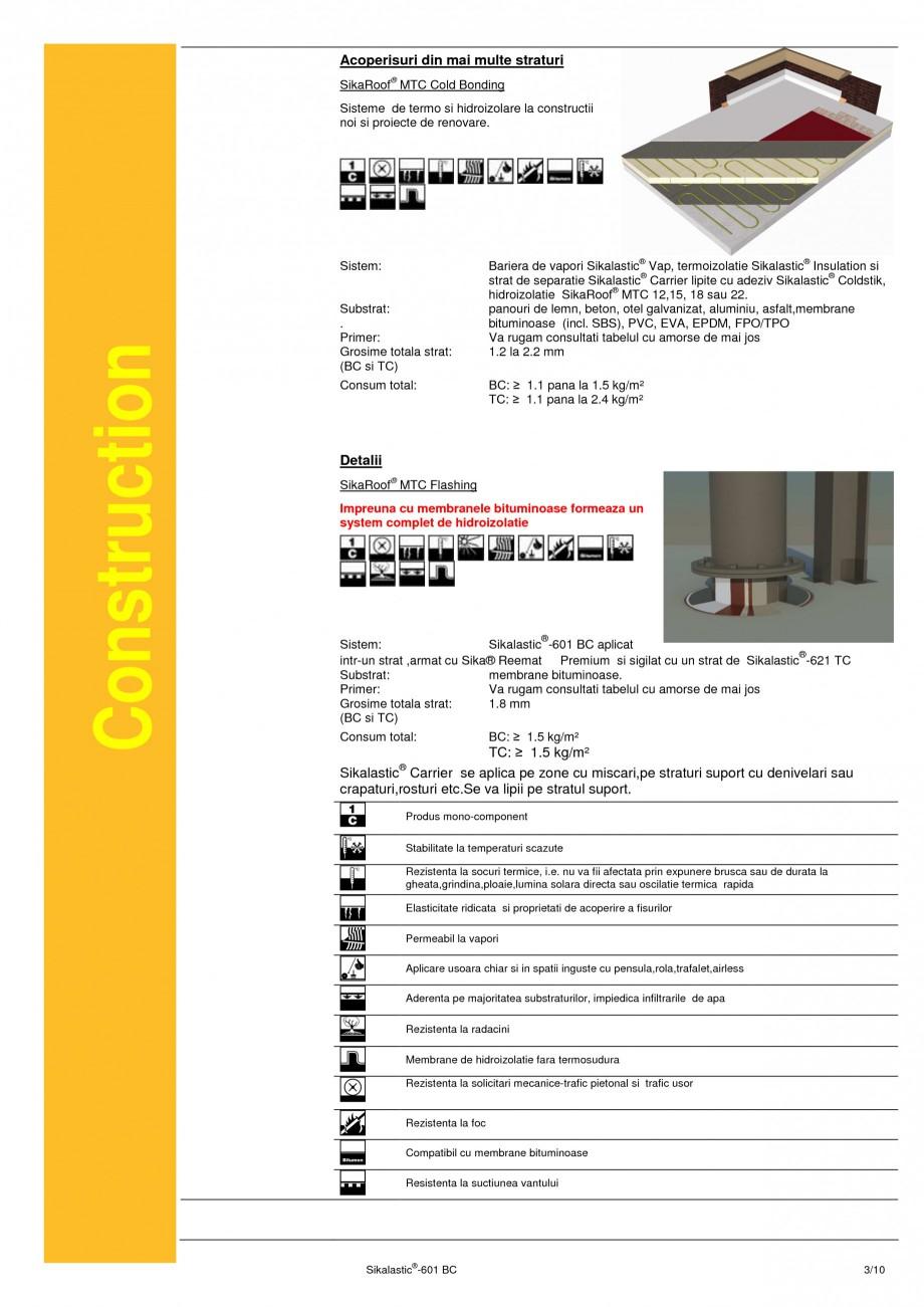 Pagina 3 - Membrana lichida hidroizolanta pentru acoperisuri SIKA Sikalastic®-601 BC Fisa...