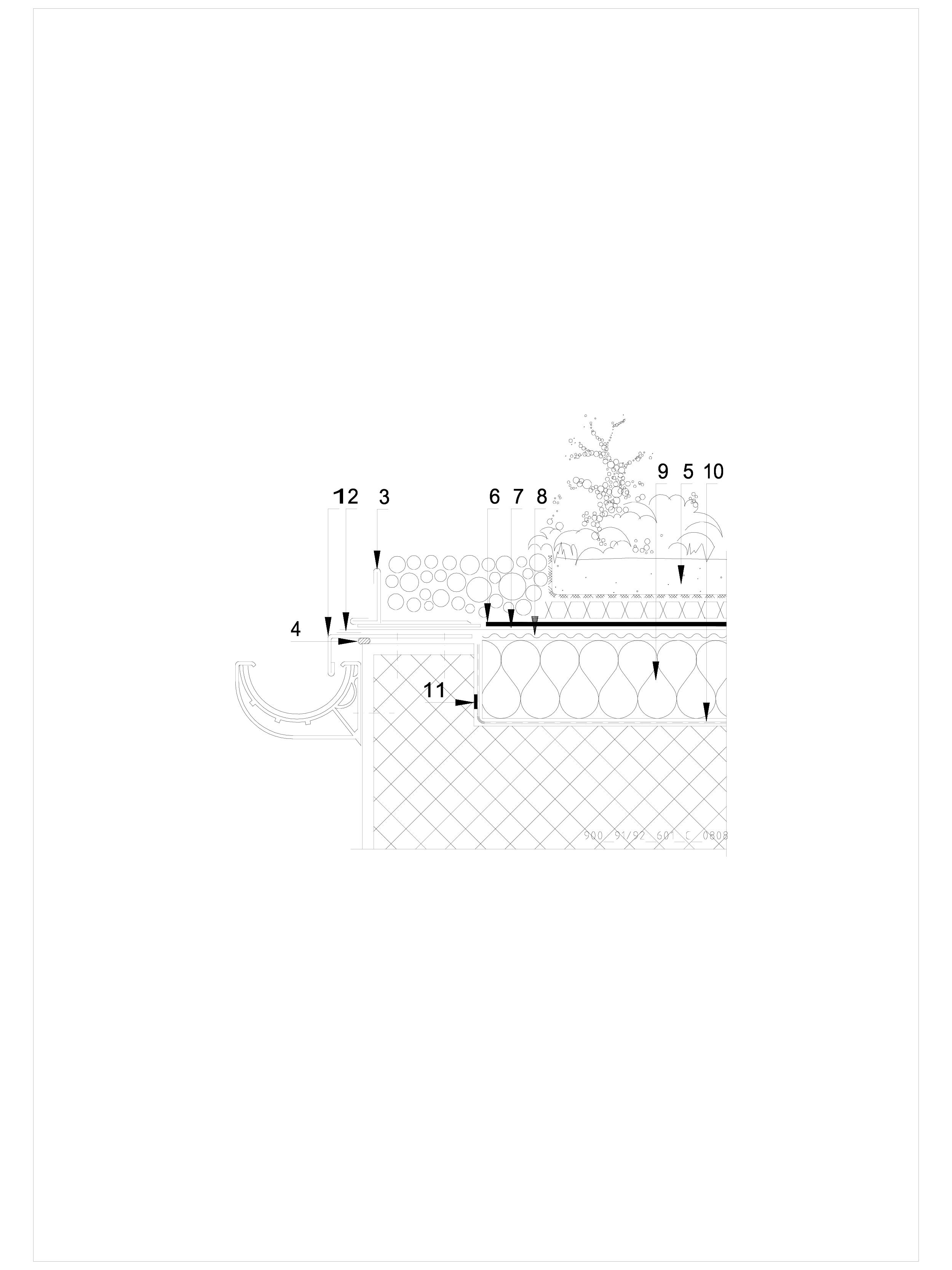 Pagina 1 - CAD-DWG Hidroizolatii acoperisuri verzi-detaliu de scurgere jgeab SIKA Detaliu de montaj ...
