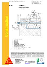 Hidroizolatii acoperisuri verzi-detaliu de scurgere jgeab SIKA