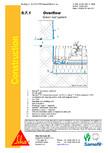 Hidroizolatii acoperisuri verzi-detaliu de evacuare apa, preaplin SIKA