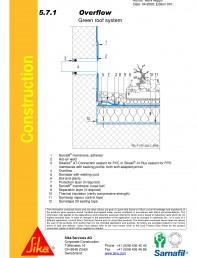 Hidroizolatii acoperisuri verzi-detaliu de evacuare apa, preaplin