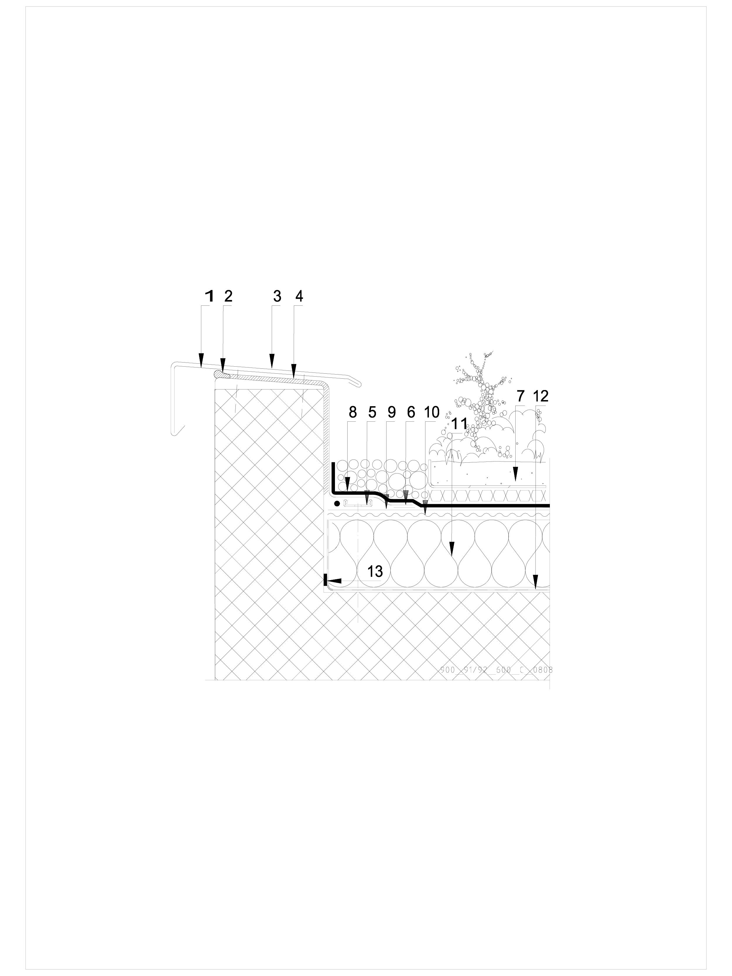Pagina 1 - CAD-DWG Hidroizolatii acoperisuri verzi-detaliu de atic SIKA Detaliu de montaj Sika...