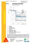 Hidroizolatii acoperisuri verzi-detaliu de atic SIKA