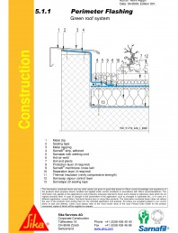 Hidroizolatii acoperisuri verzi-detaliu de atic