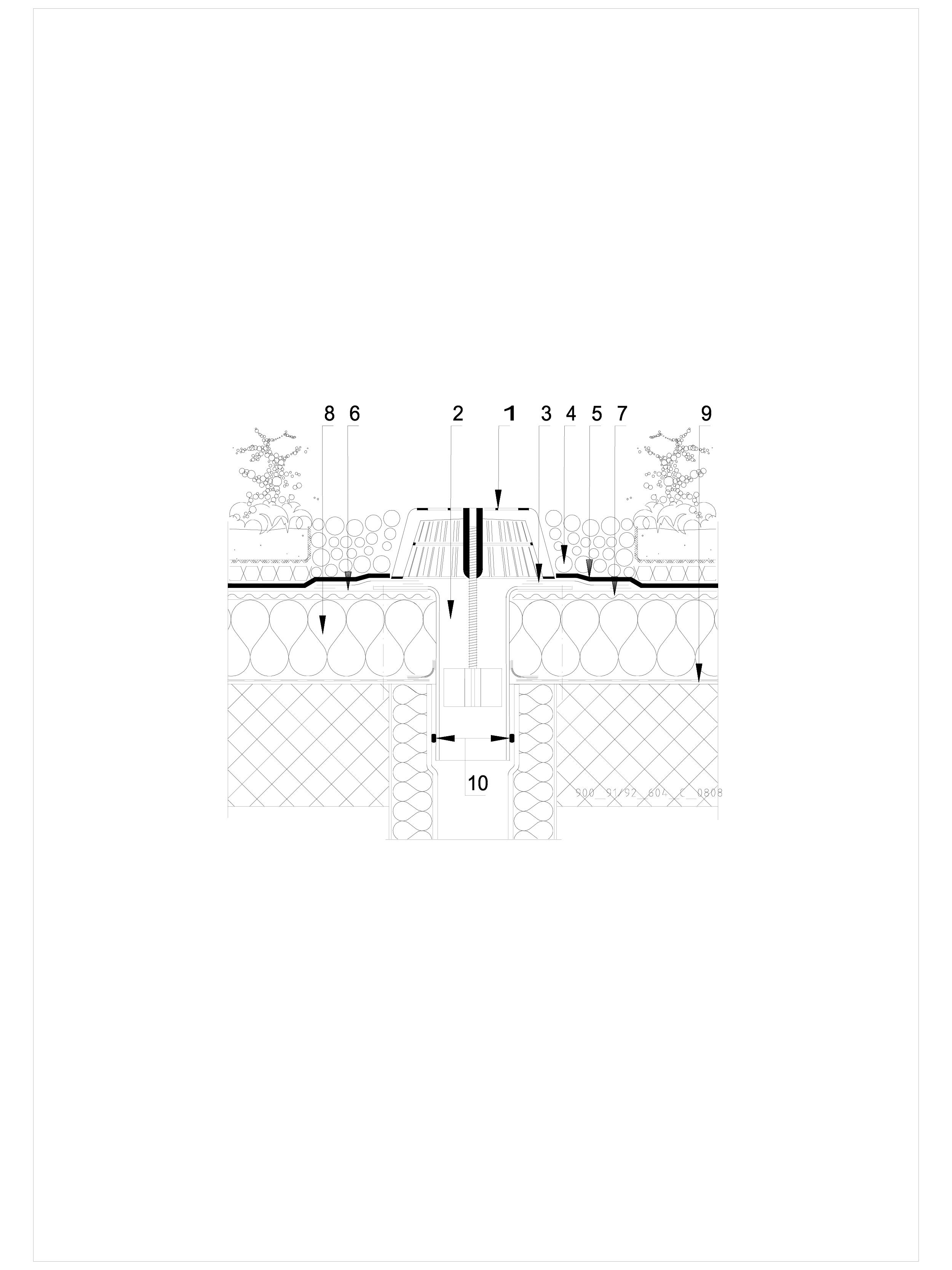 Pagina 1 - CAD-DWG Hidroizolatii acoperisuri verzi-detaliu gura de scurgere SIKA Detaliu de montaj...