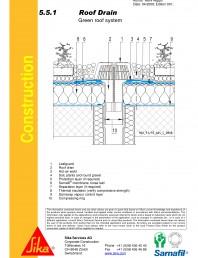 Hidroizolatii acoperisuri verzi-detaliu gura de scurgere