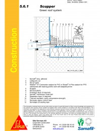 Hidroizolatii acoperisuri verzi-detaliu de scurgre laterala (gargui)