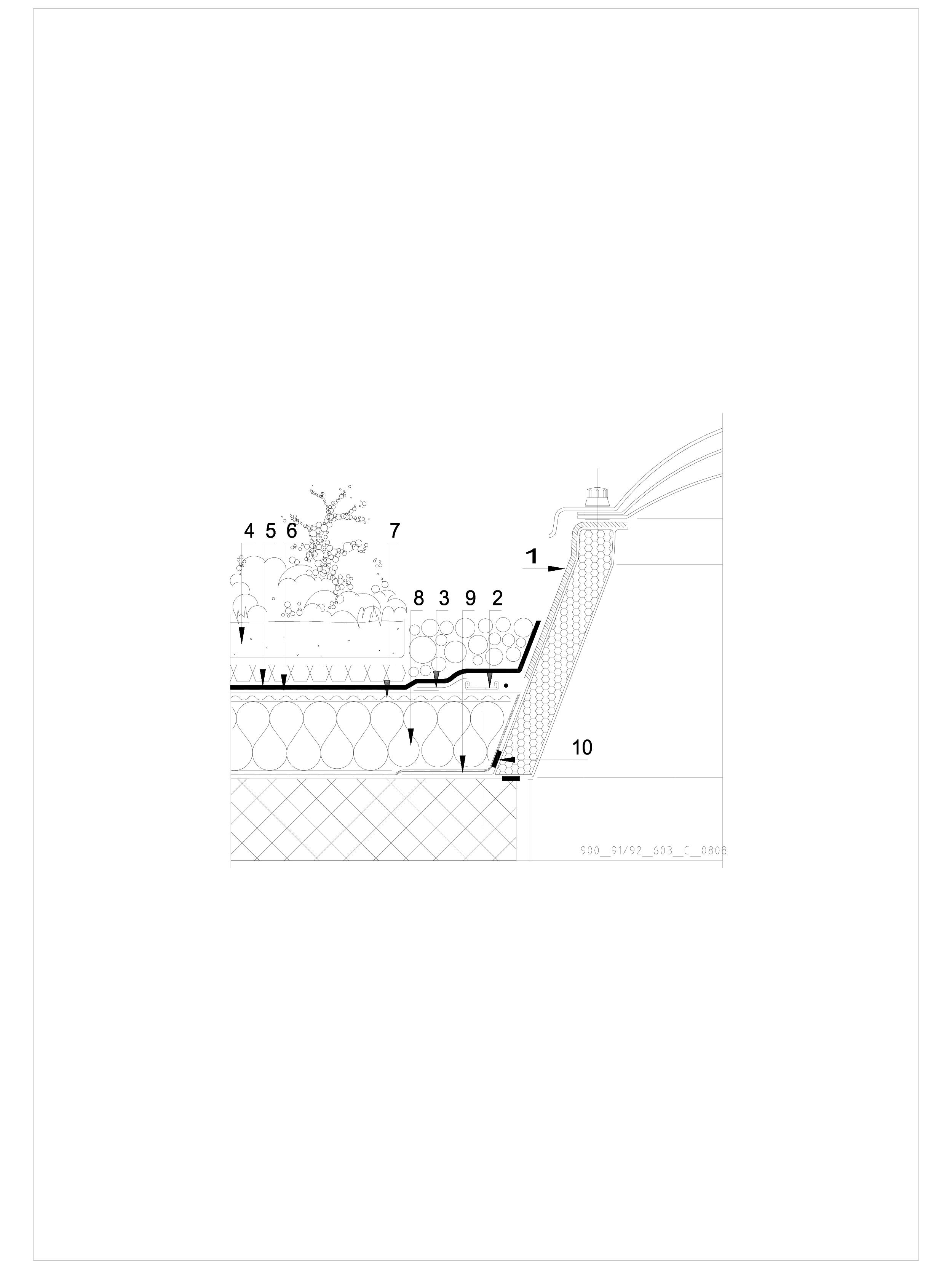 Pagina 1 - CAD-DWG Hidroizolatii acoperisuri verzi-detaliu de racord la luminator SIKA Detaliu de...