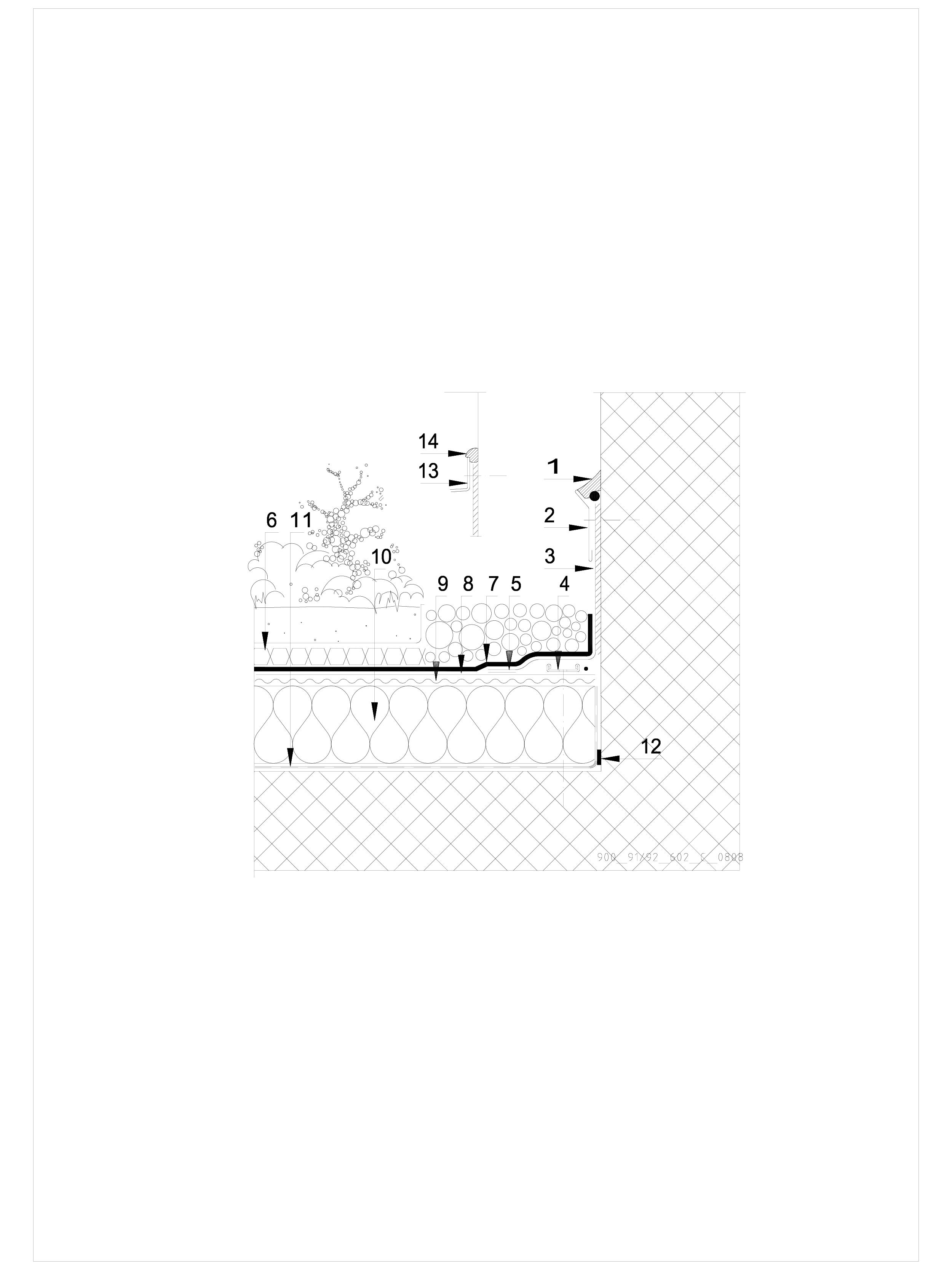 Pagina 1 - CAD-DWG Hidroizolatii acoperisuri verzi-detaliu de etansare SIKA Detaliu de montaj Sika...